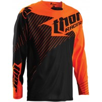 Dres motokrosový thor core hux black/flo orange 2016