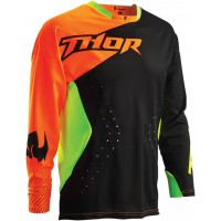Dres motokrosový thor core air black/flo 2016