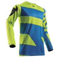motokrosový dres THOR Pulse level 2018 electric blue/lime