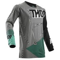 motokrosový dres THOR Pulse geotec 2018 black/teal