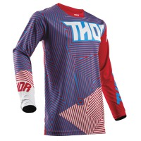 motokrosový dres THOR Pulse geotec 2018 red/blue