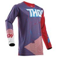 motokrosový dres THOR Pulse geotec 2018 red/blue