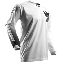 motokrosový dres THOR Pulse Whiteout 2018 white