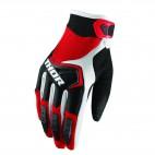 motokrosové rukavice THOR Spectrum Glove 2018 red/blc/wht