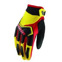 motokrosové rukavice Thor Spectrum glove 2018 ylw/blk/red