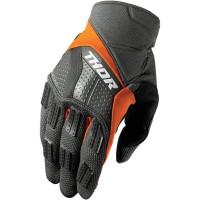 motokrosové rukavice THOR Rebound glove charcoal/orange