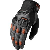 motokrosové rukavice THOR Defend glove 2018 chark/dk orange