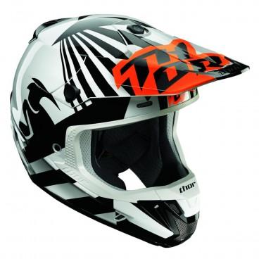motokrosová přilba THOR Verge Helmets 2018 Dazz flo orange/wht