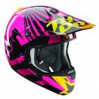 motokrosová přilba THOR Verge Helmets 2018 Dazz Magenta/black
