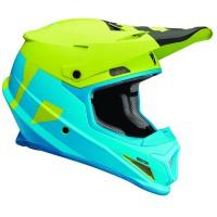 motokrosová přilba THOR Sector Helmet 2018 level blue/lime