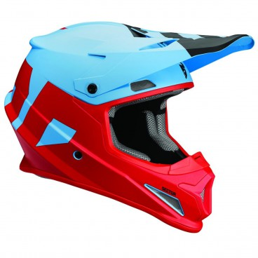 motokrosová přilba THOR Sector Helmet 2018 level powder blue/red