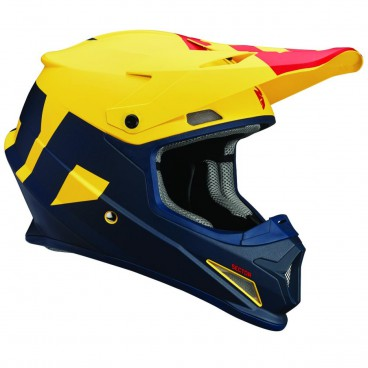 motokrosová přilba THOR Sector Helmet 2018 level navy/yellow