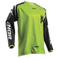 motokrosový dres THOR Sector Zones 2018 lime jersey
